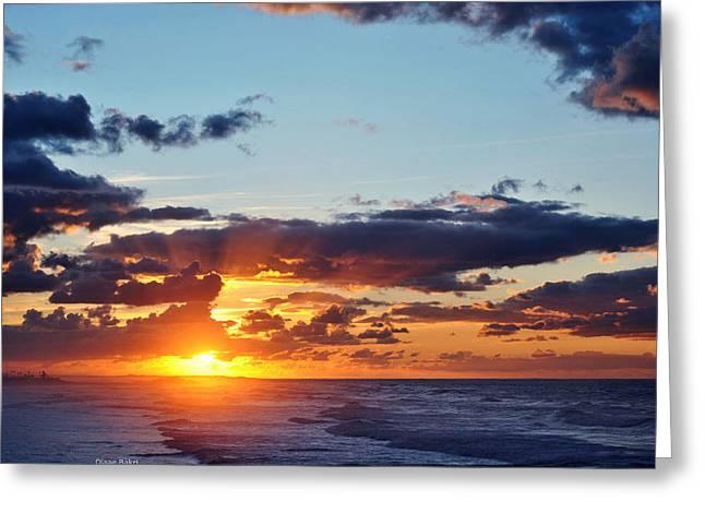 Sunset Greeting Card by Diaae Bakri