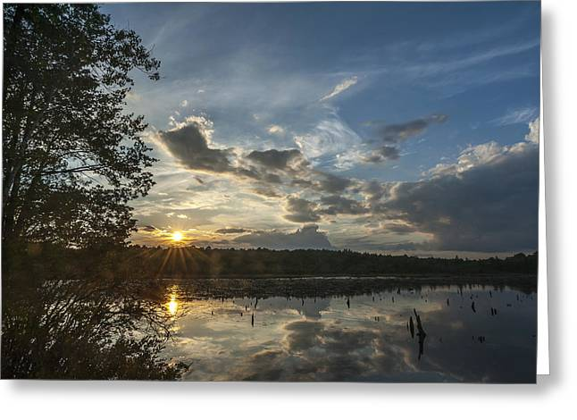Cedar Creek Greeting Cards - Sunset Double Trouble State Park NJ Greeting Card by Terry DeLuco