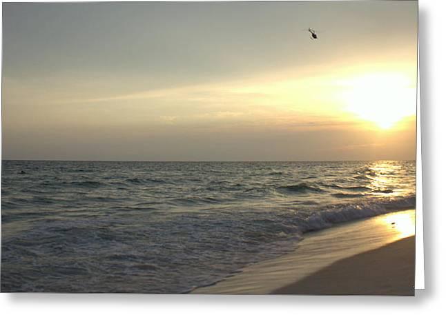 Panama City Beach Greeting Cards - Sunset Down Greeting Card by Debra Forand