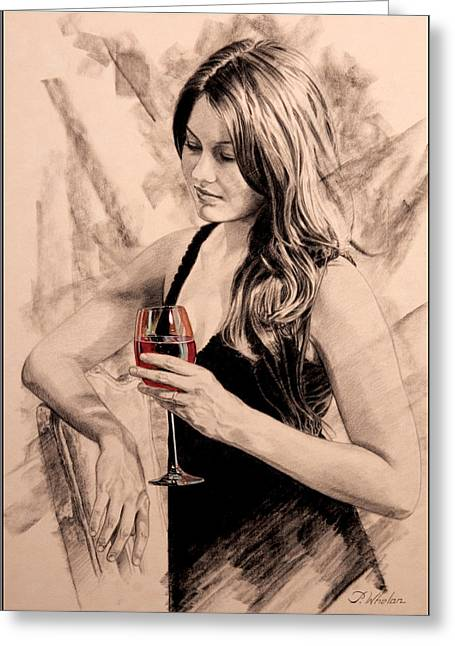 Red Wine Prints Greeting Cards - Sunset Dreams Greeting Card by Patrick Whelan