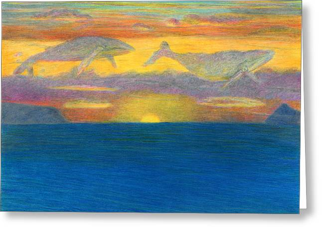 Sunset Drifters Greeting Card by Kenneth Grzesik