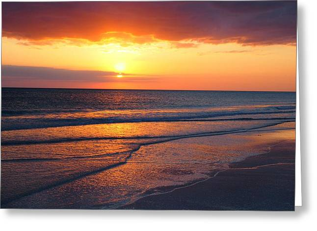 Sunset Glass Art Greeting Cards - Sunset  Greeting Card by Eric Griffith