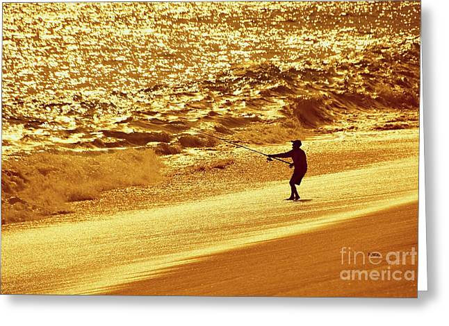 Purchase Greeting Cards - Sunset Fisherman Greeting Card by Patrick Witz