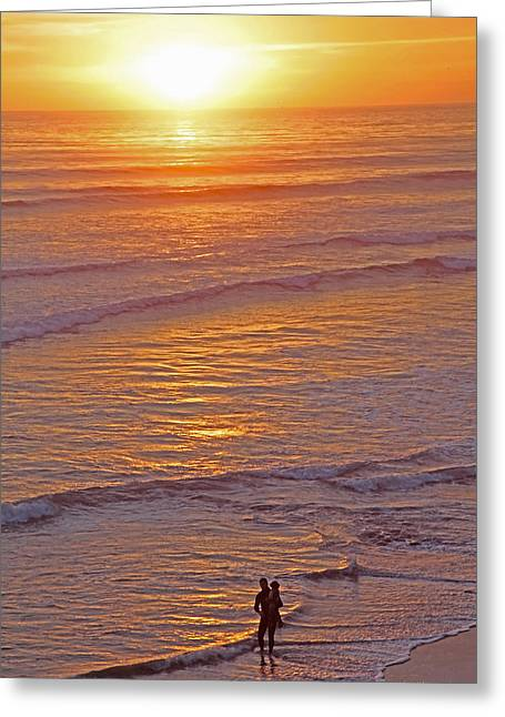 Californian Mixed Media Greeting Cards - Sunset for Two - Metaphysical Energy Art Print Greeting Card by Alex Khomoutov