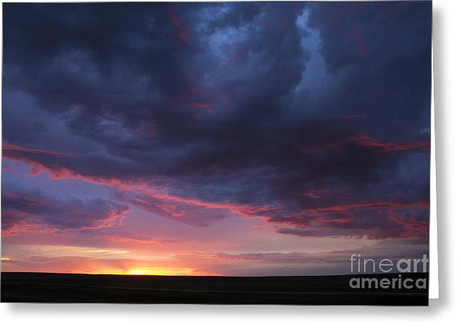 Canadian Prairies Greeting Cards - Sunset Greeting Card by Francis Lavigne-Theriault