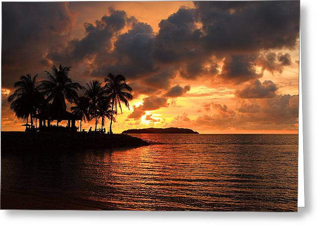 Scenes Greeting Cards - Sunset Greeting Card by Francis Tan