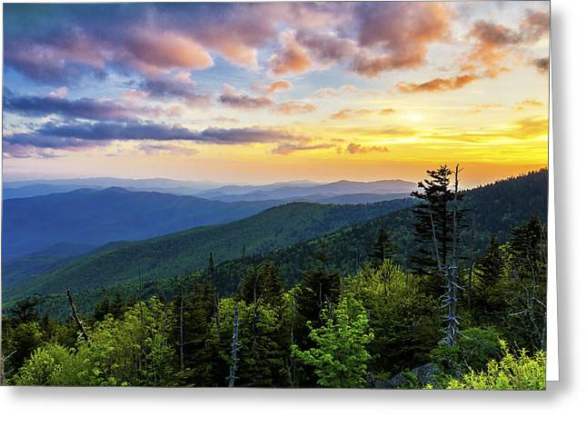 Tn Greeting Cards - Sunset from Clingmans dome Greeting Card by Anthony Heflin