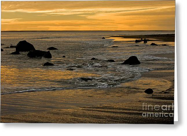 Ocean Shore Greeting Cards - Sunset From Damon Point Greeting Card by Anthony Mercieca