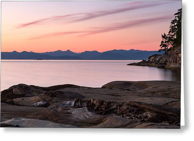 Sunset From Duke Point Greeting Card by Michael Russell