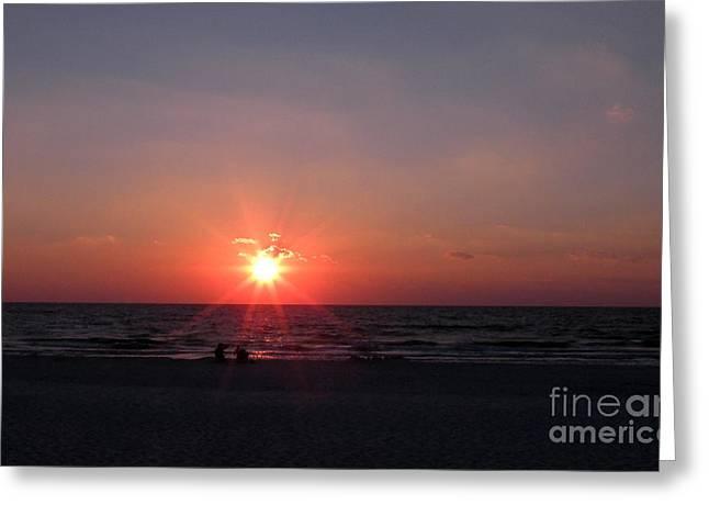 Port St Joseph Greeting Cards - Sunset from Port St. Joseph Peninsula Greeting Card by Lora Duguay