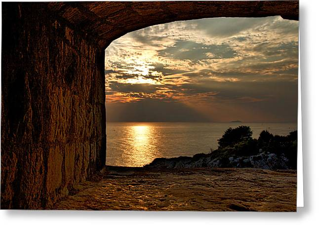 Outdoor Theater Greeting Cards - Sunset From the Fort Greeting Card by Stuart Litoff