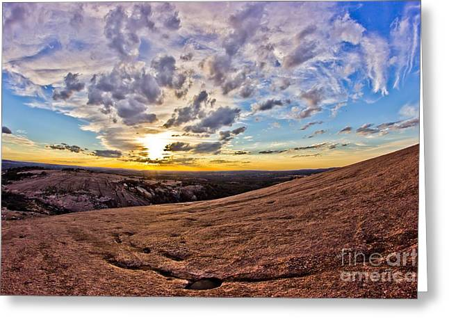 From The Dome Greeting Cards - Sunset from the Granite Dome Greeting Card by Michael Tidwell