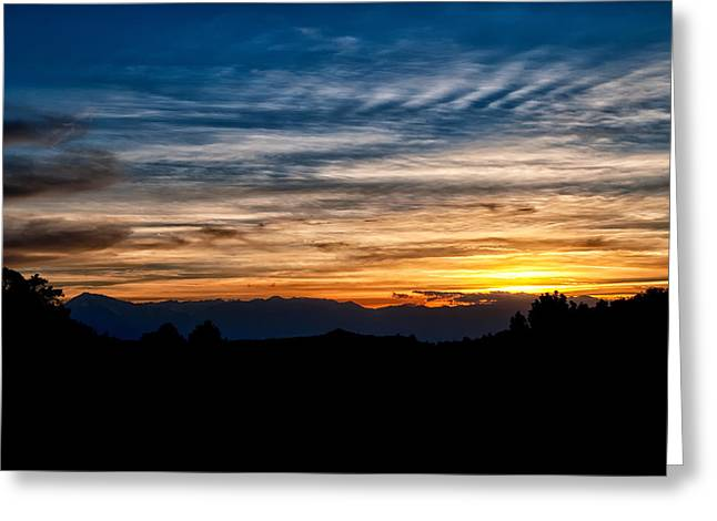 Yelllow Greeting Cards - Sunset from the Whites Greeting Card by Cat Connor