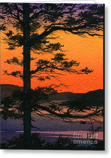 Landscape Framed Prints Greeting Cards - Sunset Glow Greeting Card by James Williamson