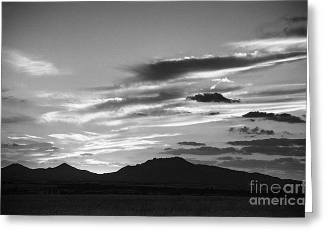 Scenic Photographs Greeting Cards - Sunset Granite Mountain Greeting Card by Arne Hansen