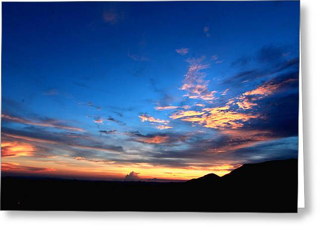 Closing Time Greeting Cards - Sunset Greeting Card by Greg Thiemeyer