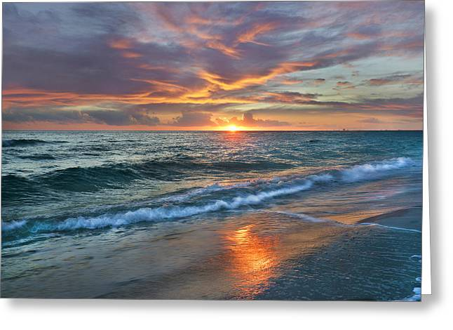 Sunset Gulf Islands National Seashore Greeting Card by Tim Fitzharris