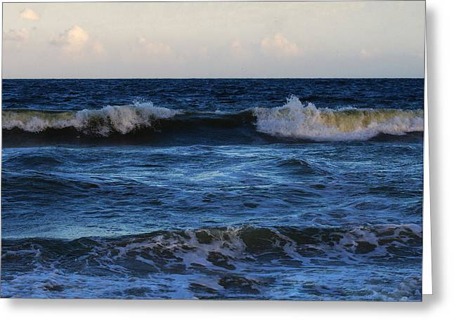 Ocean Images Digital Art Greeting Cards - Sunset image at Myrtle beach Greeting Card by Chris Flees