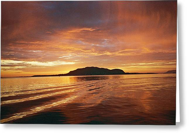 Sunset In Norway Greeting Cards - Sunset in Alesund Greeting Card by Christine Rivers
