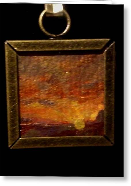 Acrylic Art Jewelry Greeting Cards - Sunset in Big Bend National Park Greeting Card by Bethany Jordan