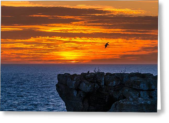 Consumerproduct Photographs Greeting Cards - Sunset in Cabo Carvoeiro I Greeting Card by Alexandre Martins