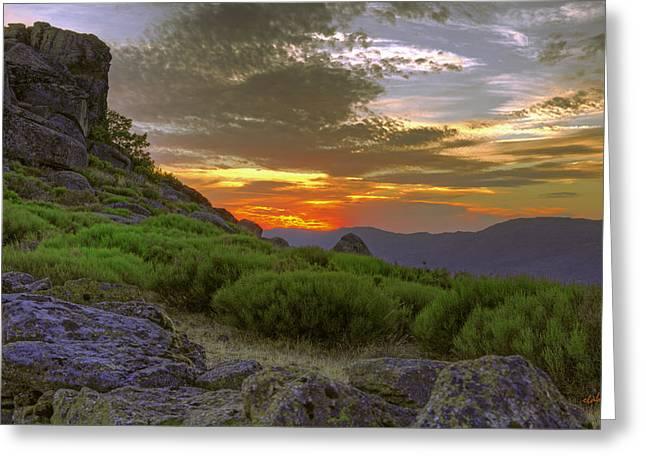 Extremadura Greeting Cards - Sunset in Extremadura Spain Greeting Card by Eduardo Latorre