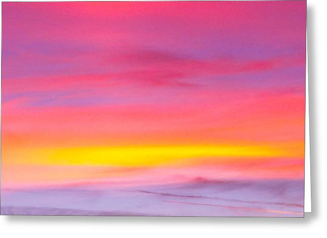 Sunset In Florda Greeting Card by Dennis Dugan