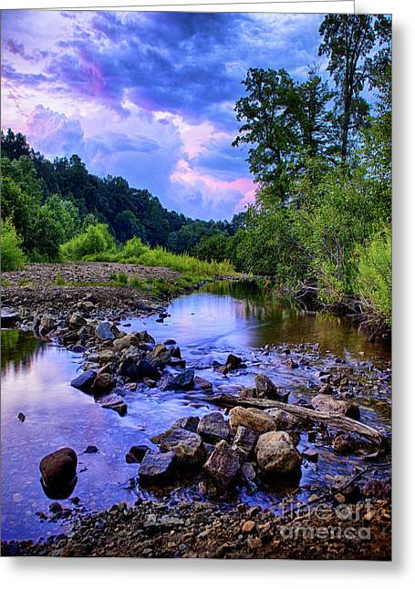 Crick Greeting Cards - Sunset in Hedden Park Greeting Card by Mark Miller