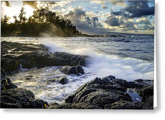 Energetic Greeting Cards - Sunset in Hilo Greeting Card by Francesco Emanuele Carucci