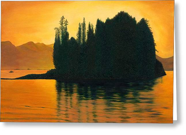 Sunset In Juneau Alaska Greeting Card by Phillip Compton