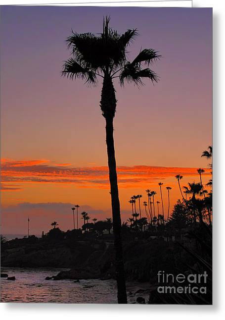 Water In Caves Greeting Cards - Sunset in Laguna Beach Greeting Card by Mariola Bitner