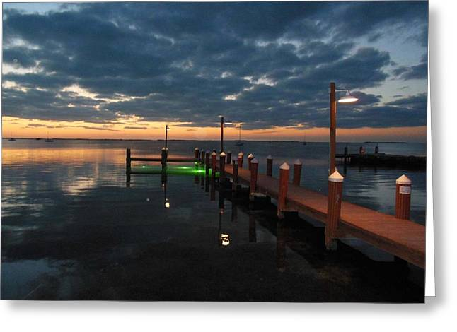 Water Reflecting At Sunset Greeting Cards - Sunset in Largo Greeting Card by Patricia Blake