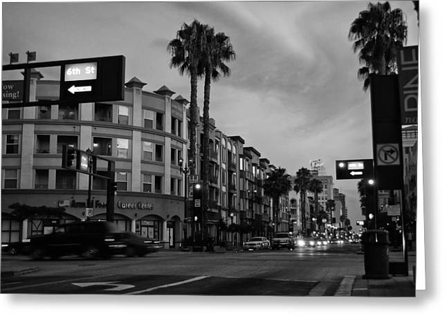 Long Street Greeting Cards - Sunset in Long Beach Greeting Card by Mountain Dreams