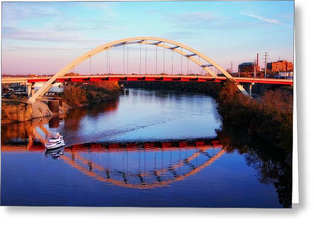 Tennessee River Greeting Cards - Sunset in Nashville Greeting Card by Marcia Colelli