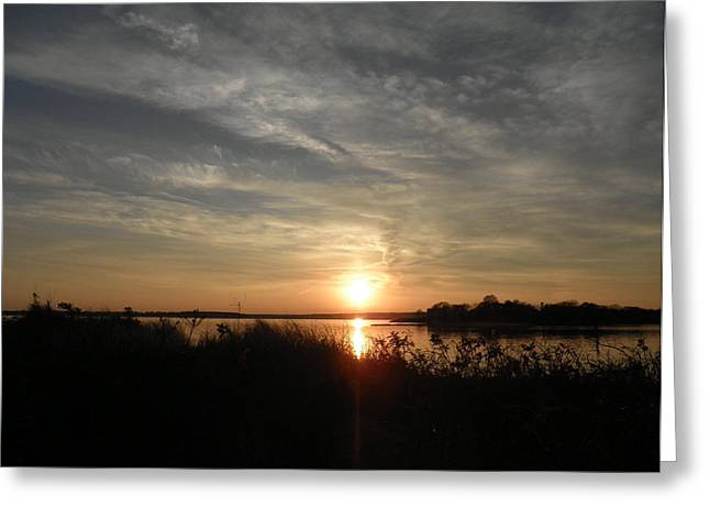 Reflection Of Sun In Clouds Greeting Cards - Sunset in November Greeting Card by Kate Gallagher