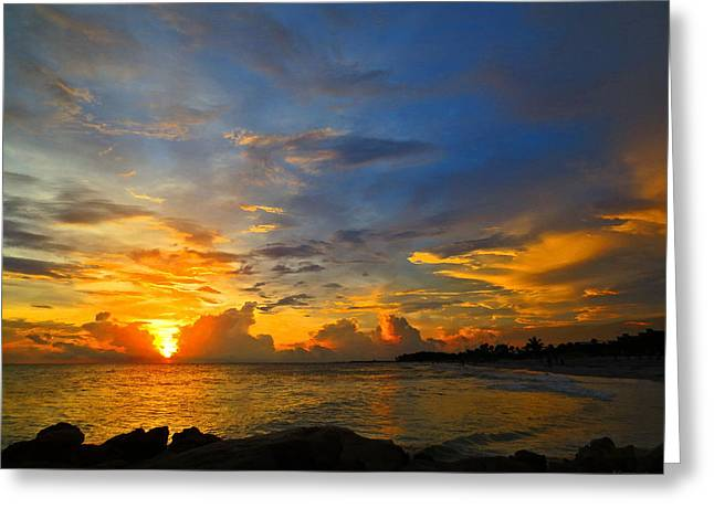 Bradenton Greeting Cards - Sunset In Paradise - Beach Photography by Sharon Cummings Greeting Card by Sharon Cummings