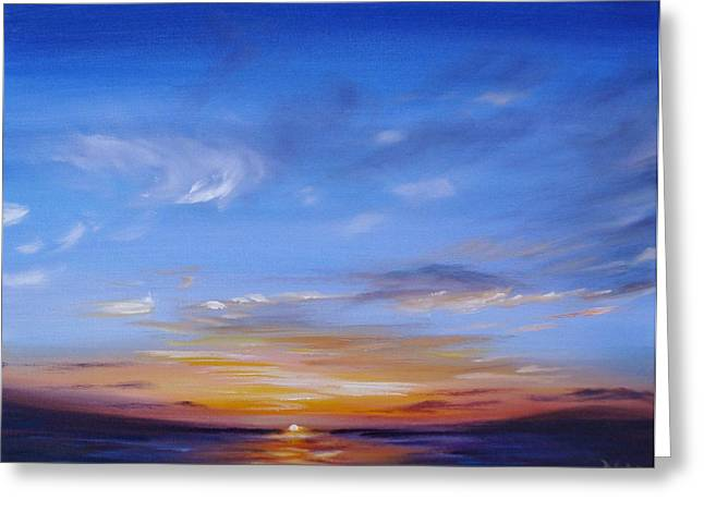 Reflection In Water Greeting Cards - Sunset in Paradise Greeting Card by Donna Tuten