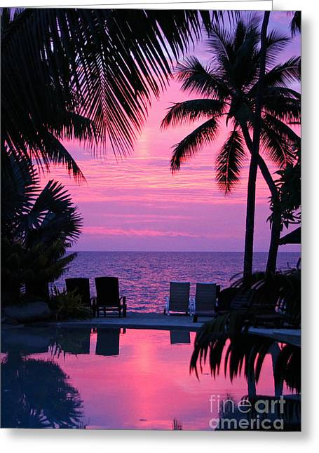 Paradise Greeting Cards - Sunset in Paradise Greeting Card by Lars Ruecker