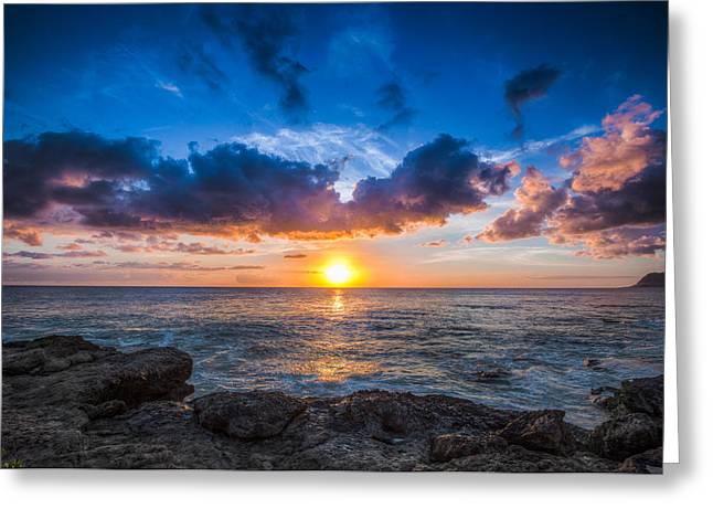 Sunset In Paradise Greeting Card by Mike Lee