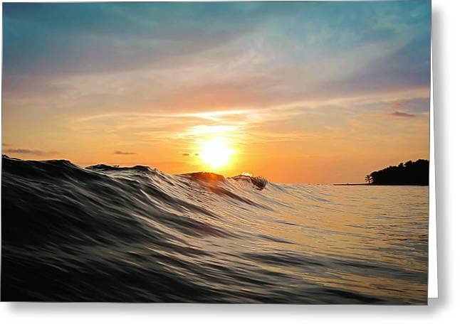 Lake Photography Greeting Cards - Sunset in Paradise Greeting Card by Nicklas Gustafsson