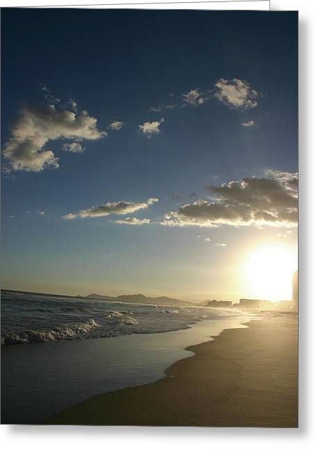 Frederico Borges Photographs Greeting Cards - Sunset in Rio Greeting Card by Frederico Borges