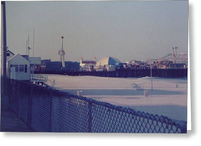 Jet Star Greeting Cards - Sunset in Seaside Heights NJ Greeting Card by Joann Renner