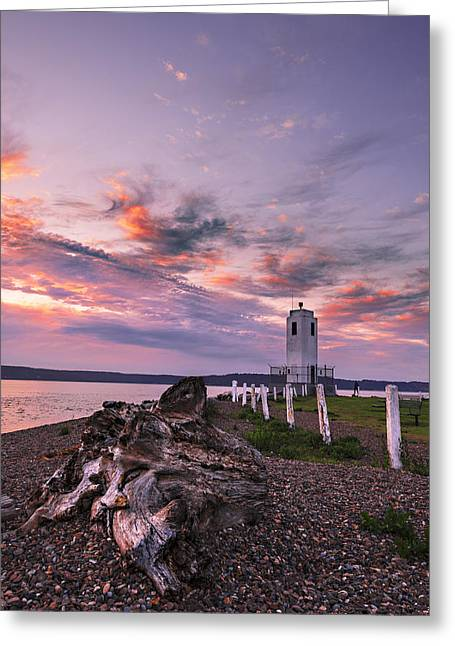 Commencement Bay Greeting Cards - Sunset in Tacoma Greeting Card by Ryan Manuel