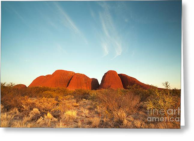 Sunset Posters Greeting Cards - Sunset in the australian outback Greeting Card by Matteo Colombo