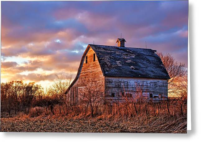 Wooden Building Greeting Cards - Sunset in the Country Greeting Card by Nikolyn McDonald