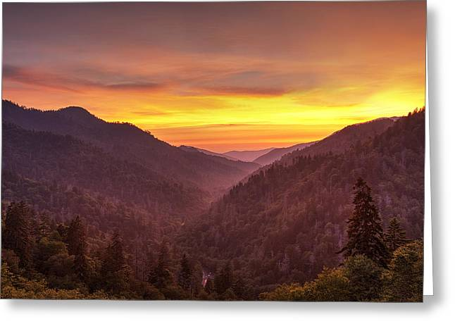 Sunset In The Mountains Greeting Card by Andrew Soundarajan