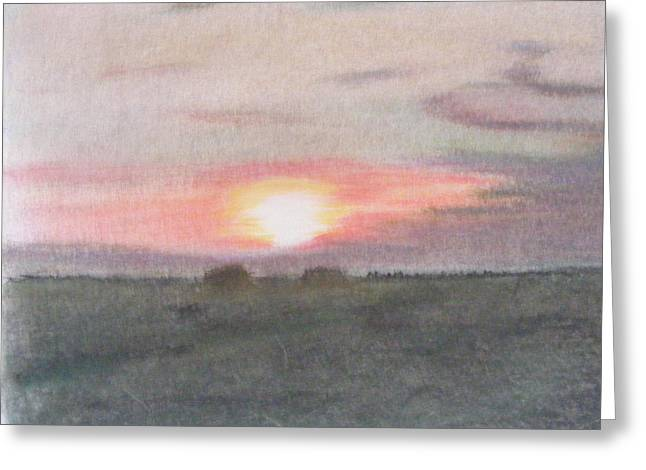 Lessons Pastels Greeting Cards - Sunset In The Scottish Borders Greeting Card by Thomas McCaskie