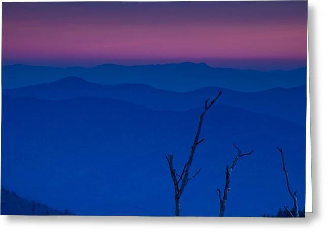 Haze Greeting Cards - Sunset in the Smokies Greeting Card by Andrew Soundarajan