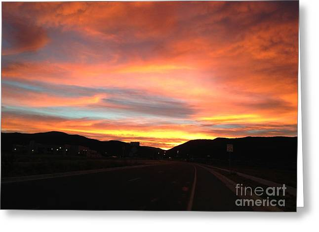 Lela Becker Greeting Cards - Sunset In The Southwest Greeting Card by LeLa Becker
