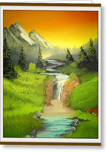 Problem Paintings Greeting Cards - Sunset in the wild  Greeting Card by John Morris